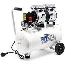 Compresor aire 24L 7Bares Presión Aire comprimido Sin aceite Taller Profesional Herramientas Ruedas