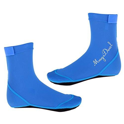 MagiDeal Erwachsener Kinder Neoprensocken Beachsocken Strandsocken Wassersport Tauchen Schwimmen Socken aus Neopren Spandex - Blau, S