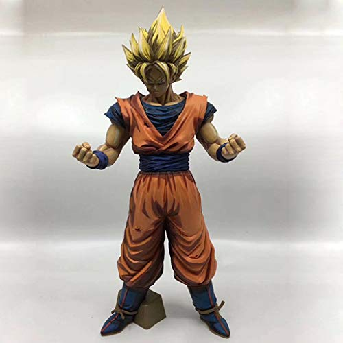 YCHBOS Dragon Ball Anime Estatua Super Saiyan Wukong Modelo de Juguete PVC Anime decoración Colección -12.6in Estatua de Juguete