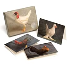 Beautiful Chickens: 20 Notecards with 4 Different Portraits, Complete with Envelopes by Ivy Press (2011) Cards