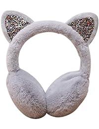Deinbe Otoño Invierno Orejeras Calientes del oído de la Historieta Linda del Auricular Orejeras Plegables Felpa Mujeres Niñas earwarmer