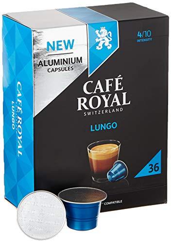 Café Royal Lungo 36 Nespresso* kompatible Kapseln aus Aluminium, Intensität 4/10, 190 g