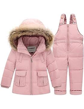 SANMIO Baby Mädchen Jungen Daunenjacke Bekleidungsset Kinder Verdickte Winterjacke + Winterhose Kleinkind Daunenhose...