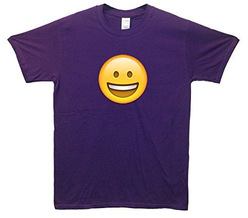 Grinning Face Emoji T-Shirt Lila