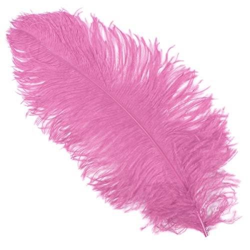 Thetru Straußen-Feder in rosa | Hut-Feder ca. 50-60 cm | Federn zu Karneval und Fasching (rosa)