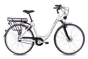 "28"" Zoll Cityrad ALU Fahrrad E-BIKE Pedelec CHRISSON E-LADY mit 7G SHIMANO NEXUS & StVZO weiss matt"