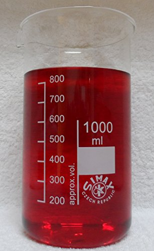 Becherglas, hohe Form, Boro 3.3 (1000 ml = ø 95 x 180 mm)