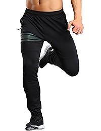 CLOUSPO Pantalon de Sport pour Hommes avec Bande Réfléchissante Pantalon de  Jogging avec Poche zippée pour 89893f9c0b6