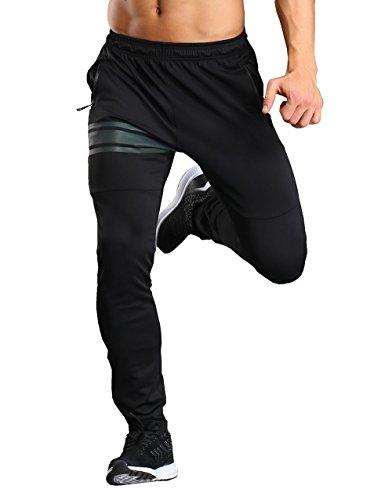Srizgo Sporthose Herren lang Schwarz soft bequem Freizeithose Trainingshose Jogginghose Sportpants Hose(Tag XL=EU L)