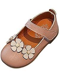 PAOLIAN Verano Zapatos para Niña Princesa Calzado Zapatos de Niñito Antideslizante Cuero Zapatos de Primeros Encantador