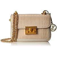 Zeneve London Womens Crossbody Bag, White - 1197815600
