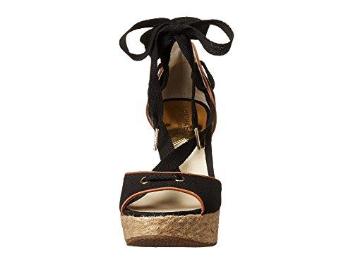 Michael Michael Kors Lilah Wedge Toile Sandales Compensés Black