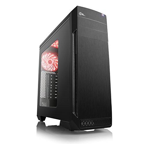CSL Computer Aufrüst-PC 906 - AMD Ryzen 5 2600 - AMD Ryzen 5 2600 6X 3400 MHz, 8 GB DDR4, GigLAN, 7.1 Sound, USB 3.1, ohne Betriebssystem