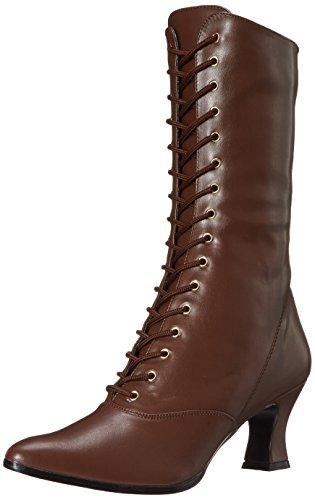 Pleaser Damen VICTORIAN-120 Stiefel, braun, 38 EU