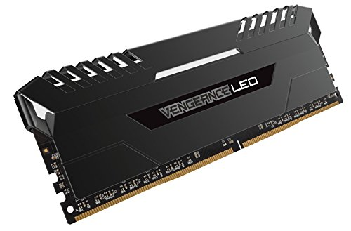 Best Saving for Corsair CMU32GX4M4C3000C15 Vengeance LED 32GB (4x8GB) DDR4 3000MHz C15 XMP 2.0 Enthusiast LED Illuminated Memory Kit – Black with White LED Lighting Online