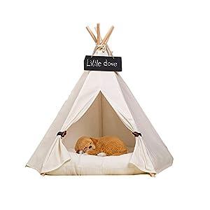 fessyc @ New Pet Blanc pur Design Pet chenils Play House Tente de jeu pour chien avec tapis pour chien/chat