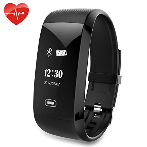 Smart Fitness Tracker Watch Waterproof, Kainuoa Heart Rate Monitor Watch Bracelet Wristband Step Pedometer, Calorie Burnt, Automatic Sleep Monitor Camera For Kids Women Men for iPhone Android Samsung