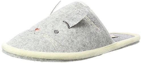 Adelheid Damen Fabelhaft Ohren Filzpantoffel Pantoffeln Grau (Silbergrau 934) 40/41 EU