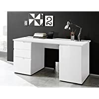 Holzdekor Stella Trading Office Lux Schreibtisch 170 x 76 x 73 cm Lichtgrau ca