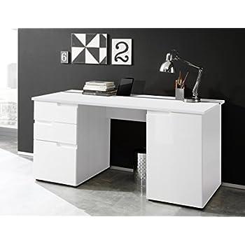Schreibtisch weiss hochglanz k che haushalt for Schreibtisch amazon