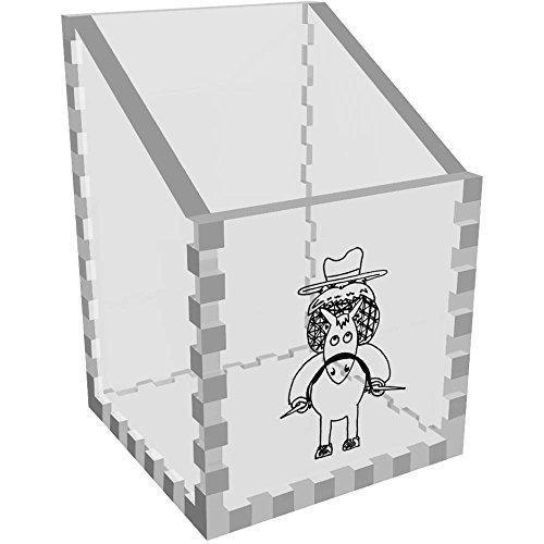 'Cowboy' Klar Schreibtisch Aufgeräumt / Stiftehalter (DT00025225) (Cowboys Schreibtisch)