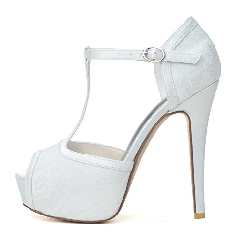 Femmes Stiletto Heel Heels Chaussures À Talons Hauts Poisson Blanc