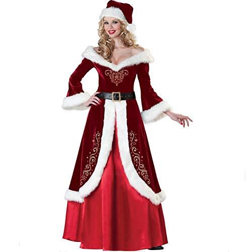 YL-Light Kostüme Für Erwachsene Damen Weihnachtsmode Sexy Santa Cape Weihnachtskostüm Mit Hut Und ()