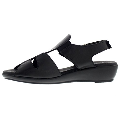 Arcopedico Womens Bianca Leather Sandals Noir