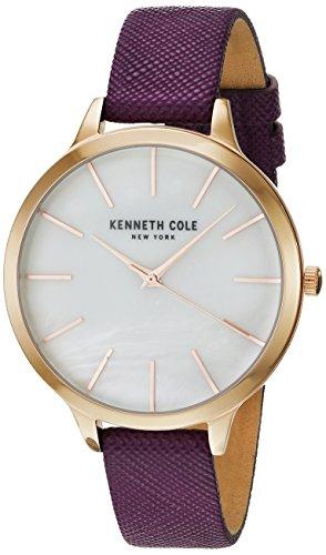 Kenneth Cole Bracelet en cuir pourpre violet de mère à perle KC15056002