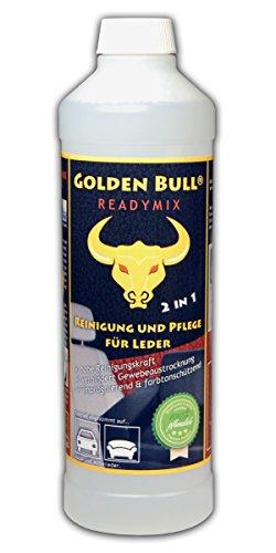 Preisvergleich Produktbild GOLDEN BULL® READYMIX FÜR LEDER Lederreiniger,  Lederpflege Leder Pflege Ökologisch Bio Auto (2-in-1) 500ml,  öko-zertifiziert