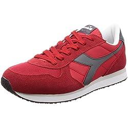 Diadora K-Run II, Zapatillas de Gimnasia para Hombre, Rojo (Rosso Carminegrigio Castello), 43 EU