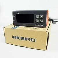 Inkbird Double Relai 220V Thermostat Numérique, Controleur de Temperature avec Sonde, Temperature Controle de Chauffe Eau,Aquarium,Terrarium Reptile