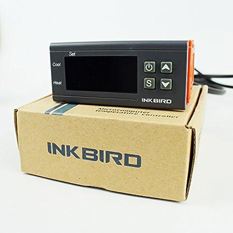 Inkbird Double Relai 220V Thermostat Numérique ITC-1000, Controleur de Temperature avec Sonde, Temperature Controle de Chauffe Eau,Aquarium,Terrarium Reptile