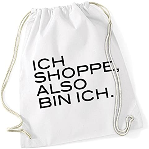 Ich Shoppe Also Bin Ich Bolsa De Gym Blanco Certified Freak