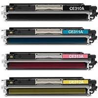 bramaca rtuchos–4X Toner Compatibile Per HP 126a CE310a MFP m275nw, MFP M 175, MFP M 176, MFP M 375NW, MFP M 475DN, M175nw, M175a, MFP M175, MFP M175NW, M175, Pro cp1012, CP1025, cp1020, CP1025, Cp1025NW, Pro cp1012, CP1025, Pro M275nwhp, Pro M27 -  Confronta prezzi e modelli
