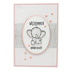 Glückwunschkarte zur Geburt, Karte zur Geburt eines Mädchens, Babykarte, handgefertigt
