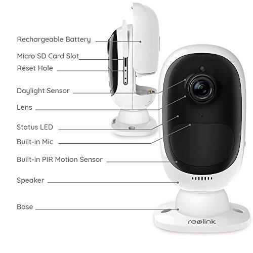 Reolink Argus 2 1080p HD kabellose Wlan IP Kamera/Überwachungskamera - Generation II