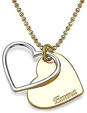 Herz-Halskette für Paare in zwei
