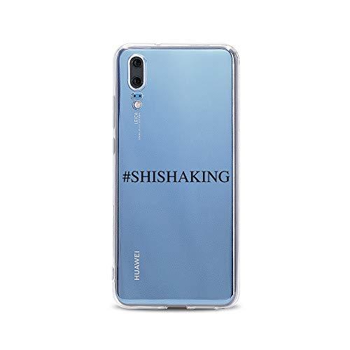 licaso Huawei P20 Handyhülle Smartphone Huawei Case aus TPU mit #Shishaking Print Motiv Slim Design Transparent Cover Schutz Hülle Protector Soft Aufdruck Lustig Funny Druck