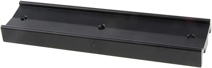 Baoblaze 170mm Schwalbenschwanz Platte Schwalbenschwanz Befestigungsplatte Montageplatte für Teleskop, Schwarz