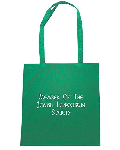 T-Shirtshock - Borsa Shopping TIR0122 jewish leprechaun society dark tshirt Verde