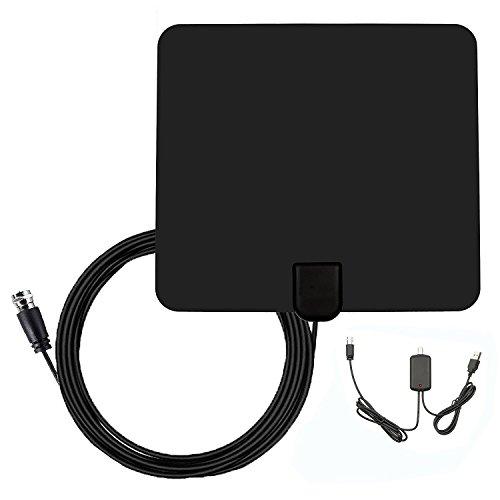 Antenne TNT Amplifiée FJOY® Antennes TV Intérieur Puissante 1080P Full HD HDTV avec d'Excellente Performance pour DVB-T TNT Numérique et...