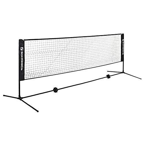 SONGMICS 5m Tennis Badminton Net Adjustable Foldable International Standard Large SYQ500H
