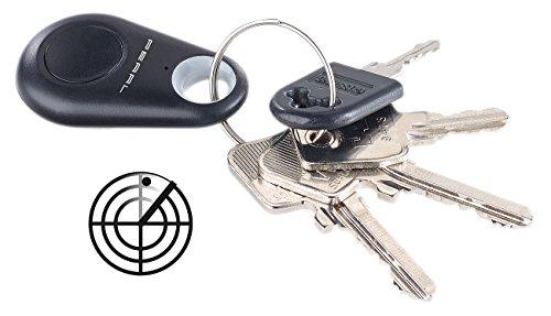 infactory Schlüsselsucher: 5in1-Schlüsselfinder, Standort-Marker, Diebstahlschutz, Bluetooth uvm. (Fernauslöser)