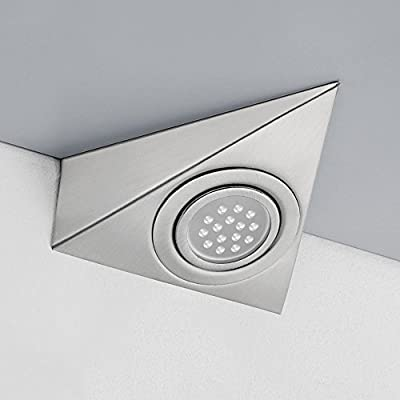 Triangle Led Downlight Under Cabinet Shelf Light Stainless Steel Brushed Kitchen Cupboard Lamp - inexpensive UK light shop.