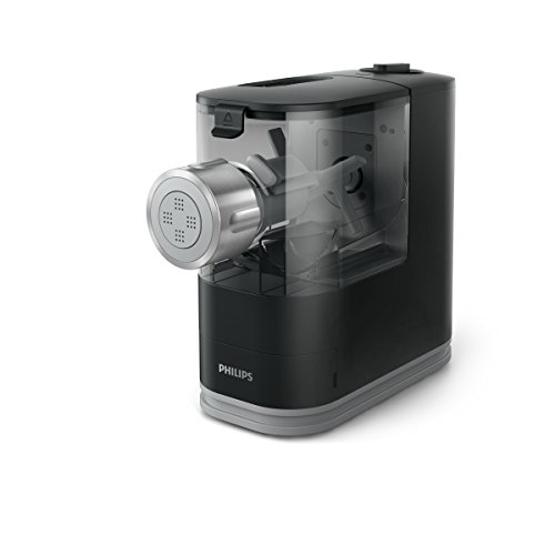 Philips HR2345/29 Viva Collection Pastamaker con Fronte in Metallo, 13.5 cm, Nero