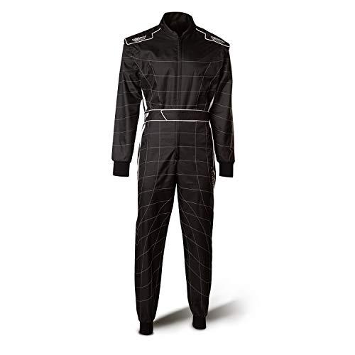 Speed Racewear Cordura Atlanta CS-2 Overall - Hochwertiger Kartoverall - schwarz/weiß (L) - Speed Overall