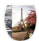 Allibert - 209967 - WC-Sitz Aktual - Paris Mon Amour - Holz - Easy Click System und Stop-Bakterien - 539