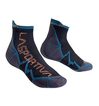 La Sportiva Long Distance Socken, Unisex Erwachsene M Blau (Ozean/Flamme)