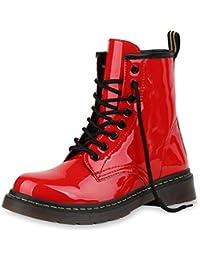 563019c85b SCARPE VITA Damen Stiefeletten Worker Boots mit Blockabsatz Prints  Profilsohle